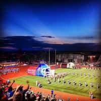 Photo taken at Bob Shelton Stadium by Kyle C. on 10/13/2012