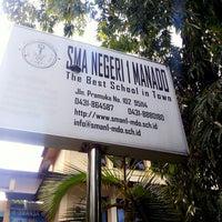 Photo taken at SMA Negeri 1 Manado by Baban S. on 10/12/2014