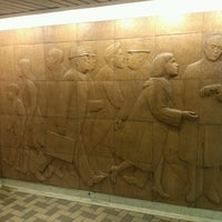 Photo taken at Dundas Subway Station by Marco R. on 11/1/2013