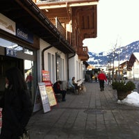 Photo taken at Bahnhof Gstaad by Tatiana K. on 12/30/2012