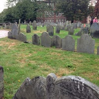 Photo taken at Copp's Hill Burying Ground by Kerry M. on 9/30/2012