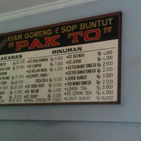 Photo taken at Ayam goreng & sop buntut Pak To by wahyudi r. on 12/8/2012