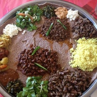 Photo taken at Awash Ethiopian Restaurant by Erika L. on 12/23/2012
