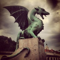 Photo taken at Zmajski most / Dragon Bridge by Alberto L. on 7/6/2013