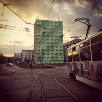 Photo taken at Mendlovo náměstí (tram, bus) by Alberto L. on 2/7/2013