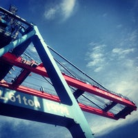 Photo taken at Terminal Peti Kemas Pelabuhan Pontianak by Riefa I. on 10/30/2012
