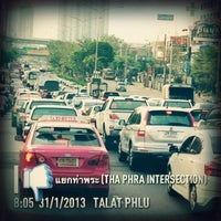 Photo taken at Tha Phra Intersection by Ja Ae C. on 1/31/2013