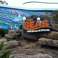 Photo taken at The Seas with Nemo & Friends by Marcelo C. on 2/24/2013