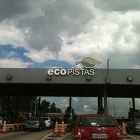 Photo taken at Pedágio Ecopistas (SP-070 km 33) by Débora S. on 12/20/2012