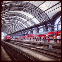 Photo taken at Dresden Hauptbahnhof by Anna R. on 7/28/2013
