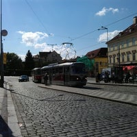 Photo taken at Malostranská (tram) by Rehab R. on 9/16/2012