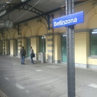 Photo taken at Stazione di Bellinzona by Kristheo G. on 5/1/2016