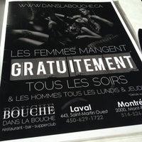 Photo taken at Restaurant Dans La Bouche by Miss Poudrette on 2/1/2013