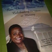 Photo taken at First AME Church, Oakland by Denisha D. on 3/25/2014