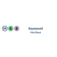 M tro daumesnil 6 8 metro station in paris - La poste daumesnil ...
