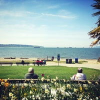 Photo taken at English Bay Beach by Charles F. on 5/1/2013