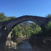 Photo taken at Cangas de Onís by Lorena L. on 8/12/2016
