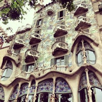Photo taken at Casa Batlló by Marcelo S. on 6/18/2013