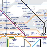 Photo taken at Kilburn London Underground Station by Stefano S. on 1/19/2013