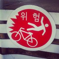 Photo taken at Han River Bicycle Path 한강 자전거도로 by Cooper Sanghyun Y. on 10/28/2012