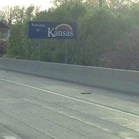 Photo taken at Missouri/Kansas Border by Lisa J. on 4/26/2014