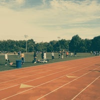 Photo taken at McCarren Park Track by Dolapo F. on 6/8/2013