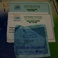 Photo taken at Pemandian Air Panas Gunung Pancar by Ari Matahari N. on 12/30/2013