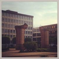 Photo taken at Synagogenplatz by Olga T. on 5/6/2013