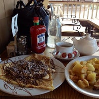 Photo taken at Crepes Cafe by Meileena B. on 3/5/2013