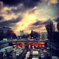 Photo taken at Arrêt Porte de Saint-Cloud [PC1,22,62,72,175,N12,N61] by Antonio B. on 11/26/2013
