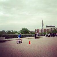 Photo taken at John T. Myers Pedestrian Bridge by NuttyKnot .. on 5/11/2013