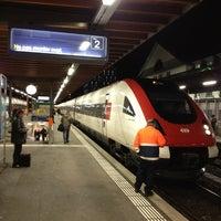 Photo taken at Bahnhof Biel / Gare de Bienne by Vinceslas on 2/1/2013