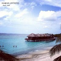 Photo taken at Sheraton Maldives Full Moon Resort & Spa by Nanp on 7/3/2013