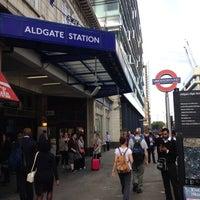 Photo taken at Aldgate London Underground Station by Chris B. on 8/19/2013