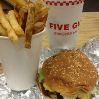 Photo taken at Five Guys by Adrianne S. on 12/24/2012