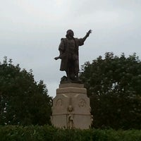 Photo taken at Christopher Columbus Monument by Carl Brioschi by Leslie W. on 10/7/2013