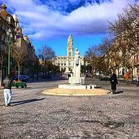 Photo taken at Avenida dos Aliados by Mário O. on 2/22/2013