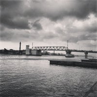 Photo taken at Pont de Bizerte by Moez A. on 12/26/2012