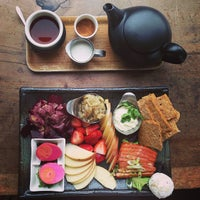 Photo taken at Samovar Tea Lounge by Jenni L. on 7/29/2013