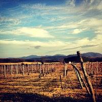 Photo taken at Afton Mountain Vineyards by Grant M. on 1/13/2013
