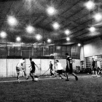 Photo taken at De Futsal by Jeffrey Steve P. on 2/4/2016