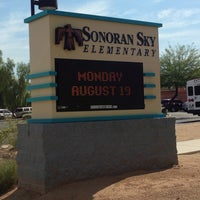 Photo taken at Sonoran Sky Elementary by Nora H. on 8/19/2013
