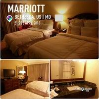 Photo taken at Bethesda Marriott by Susie on 4/9/2013