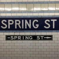 Photo taken at MTA Subway - Spring St (6) by Matthias C. on 11/14/2013