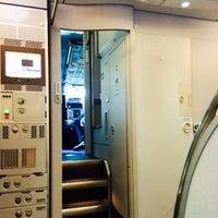 Photo taken at Lufthansa Flight LH 463 by Tero R. on 4/6/2014