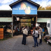 Photo taken at Ithaca Farmers Market by dadoian on 10/19/2013