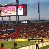Photo taken at Rio Tinto Stadium by Danielle S. on 7/4/2013