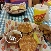 Photo taken at Dickey's Barbecue Pit by Chris P. on 12/9/2012