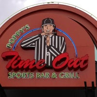 Photo taken at Poppys Timeout Sports Bar And Grill by Ginger H. on 5/19/2013