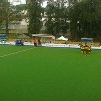Photo taken at Estadio Panamericano de Hockey by Hector L. on 9/17/2012